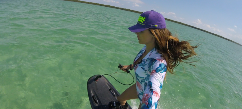 Amazing JetSurf girl riding in Miami