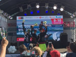 Winners of MotoSurf WorldCup Petrohrad race 2017
