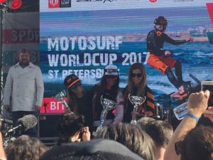 Winners of MotoSurf WorldCup Petrohrad race 2017 women
